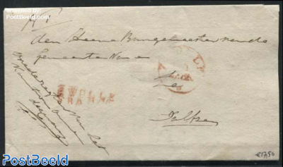 Folding letter from Harderwijk to Dalfsen