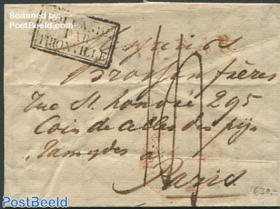 Folding letter from The Hague to Paris