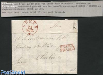 Letter from Sneek to Oldeboorn