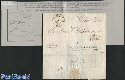 Letter from Workum via Sneek to Leeuwarden