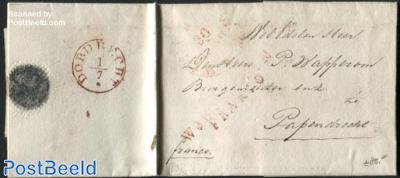 Franco letter from Dordrecht to Papendrecht