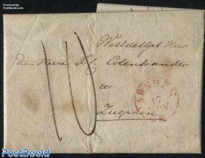 Folding letter from Arnhem to Zutphen