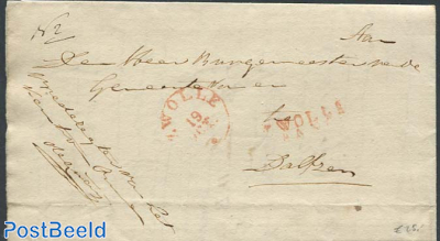 Folding letter from Zwolle to Dalfsen