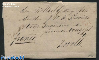 Folding letter from Markelo to Zwolle