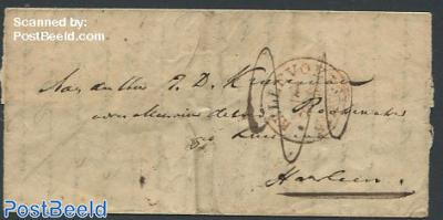 Folding letter to Rotterdam