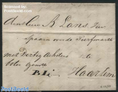 Letter from Delft to Haarlem