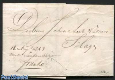 Letter from Delft to s-Gravenhage, transported by Zeelenberg