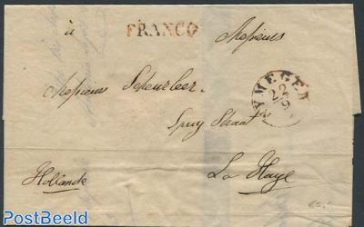 Folding letter to the Hague