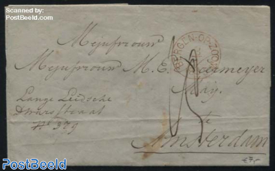 Letter from Bergen op Zoom to Amsterdam