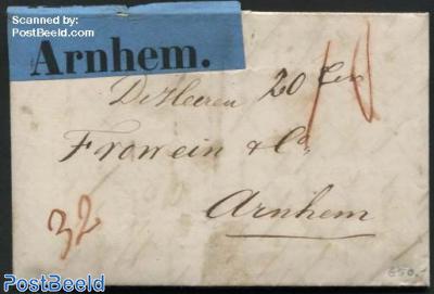 Letter from Nijkerk to Arnhem