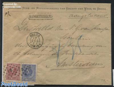 Registered letter from Breda to Amsterdam