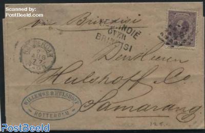 Folding Letter to Samarang via Brindisi