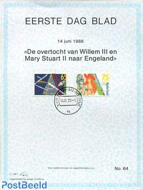 Willem III, Mary Stuart,  EDB Visje 64