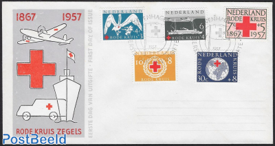 Red Cross 5v FDC without address