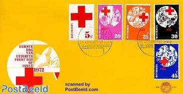 Red Cross 5v FDC