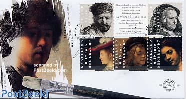 Rembrandt 5v FDC