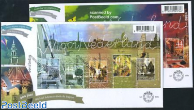 Beautiful Holland 2 s/s FDC (2 envelopes)