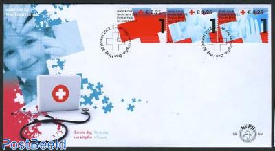 Red Cross 3v, FDC