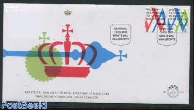 Coronation King Willem-Alexander 2v FDC