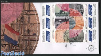 Borderless Netherlands-Australia 6v, FDC