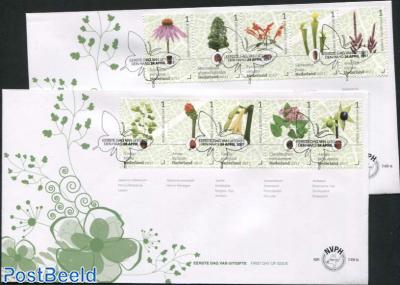 Botanic gardens FDC (2 covers)