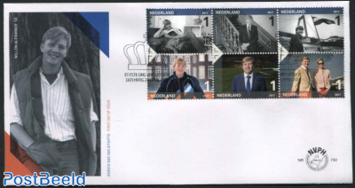 King Willem-Alexander 50th birthday FDC