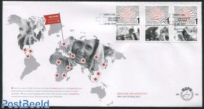 Red Cross 3v [::], FDC