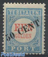 Postage due 50c on 1gld, Type III