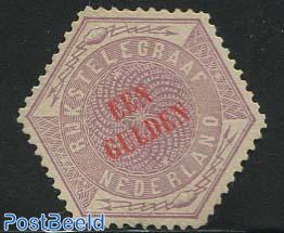 1gld, Telegram, Stamp out of set