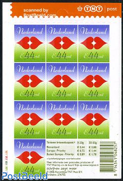 Love stamp sheet of 10 stamps s-a