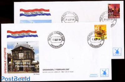 Beautiful Holland, Gouda/Groningen 2v FDC Mill set