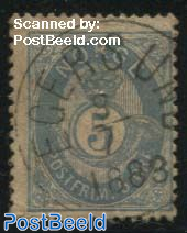 5o, Prusian blue, Stamp out of set