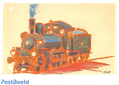 Lyonel Feininger, Steam locomotive 1908