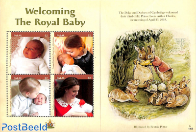 Royal baby 4v m/s (illustration Beatrix Potter)