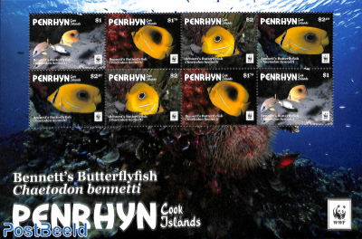 WWF, Coral butterfly minisheet