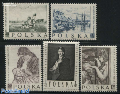 Polish paintings 5v