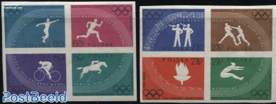 Olympic games 2x4v [+] imperforated
