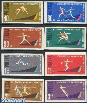 European athletic games 8v imperforated
