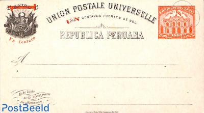 Postcard 1c on 5c