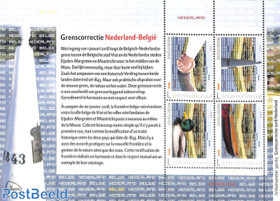 Border correction Netherlands, Belgium m/s