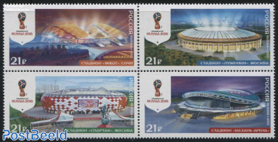 FIFA World Cup 2018, Stadiums 4v [+] or [:::]