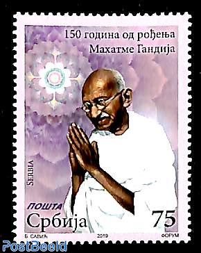 M. Gandhi 150th birth anniversary 1v