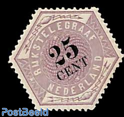 Telegraph stamp 25c with NVPH certificate