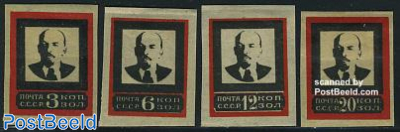 Death of Lenin 4v imperforated