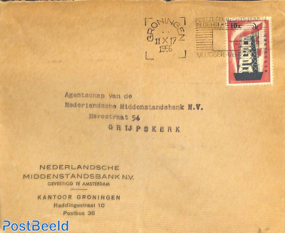 Letter with Europa stamp