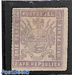 Transvaal, 3d, stamp out of set