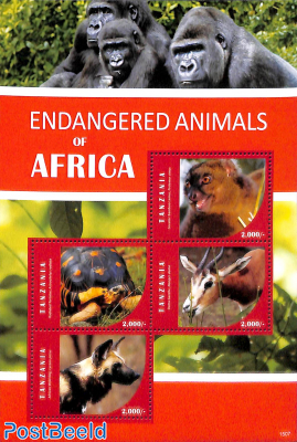 Endangered animals 4v m/s