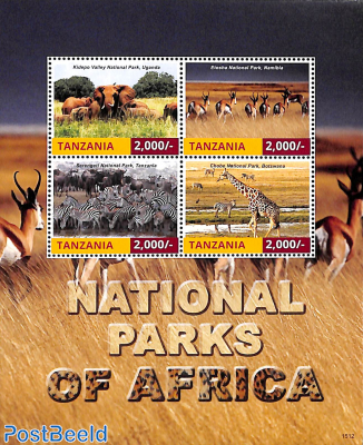 National parks of Africa 4v m/s