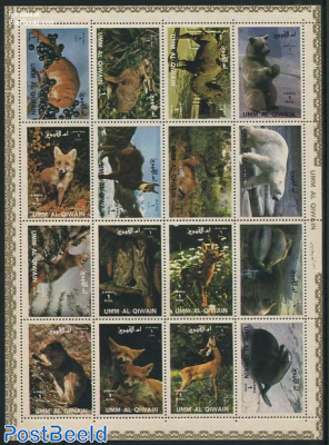 Animals 16v, minisheet
