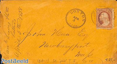 Cover from Boston Mass. to Newburyport Mass. See Boston postmark.